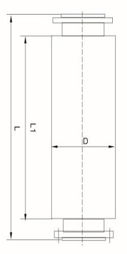 蒸汽消音器结构图_管中消音器_消音器_产品分类_产品中心_上海安泉机械有限公司